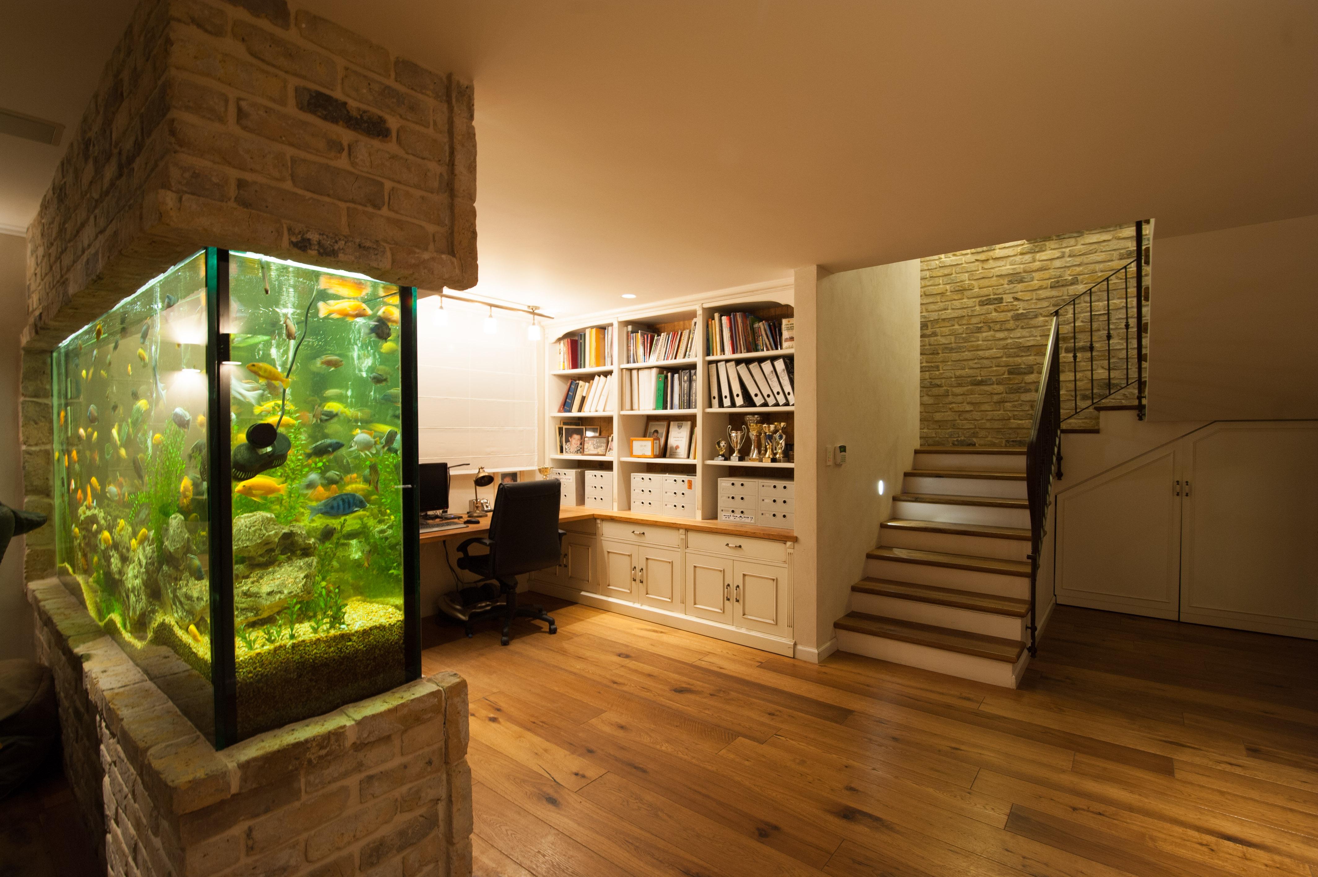 שימוש בטרה בקירות פנימיים במרתף
