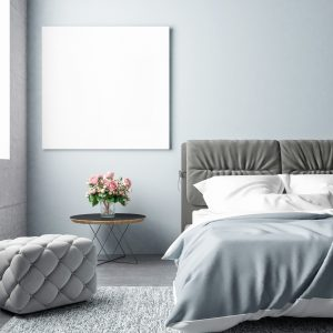 חדר שינה עם שליכט צבעוני אפור